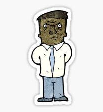 cartoon annoyed man Sticker