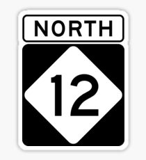NC 12 - NORTH  Sticker
