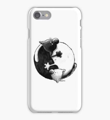 Yin and Yang Cats iPhone Case/Skin