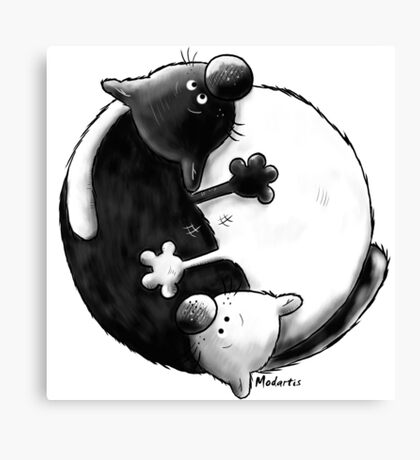 Yin and Yang Cats Canvas Print