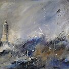Lighthouse Storm by Sue Nichol