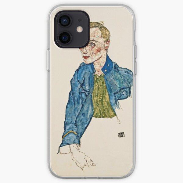 Egon Schiele - One Year Volunteer Lance Corporal (1916) iPhone Soft Case