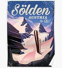 Sölden Austria vintage ski poster Poster