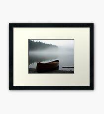 Pass Lake Canoe Framed Print