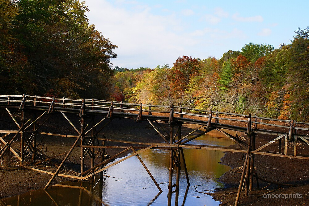 The old bridge that leads to fall colors... by cmooreprints