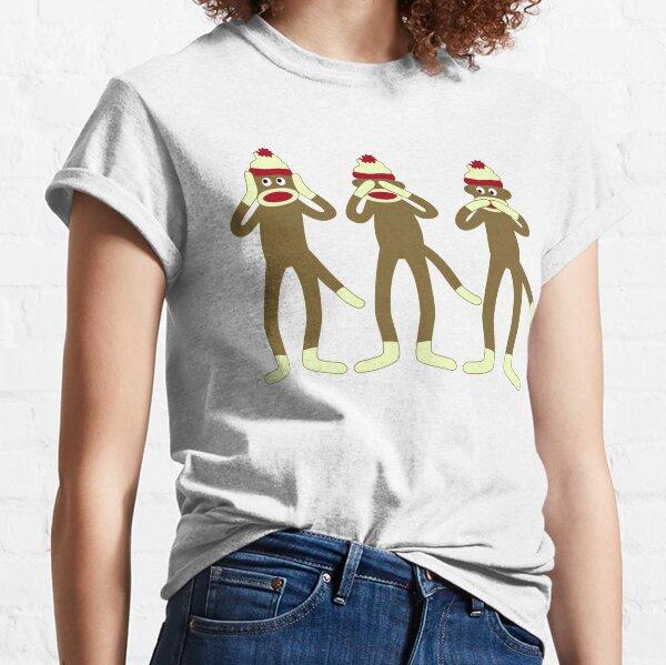 Hear, See, Speak No Evil Sock Monkeys Classic T-Shirt