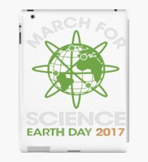 EARTH DAY 2017 MARCH FOR SCIENCE iPad Case/Skin