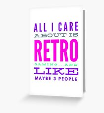 Retro Gaming Funny Design Greeting Card