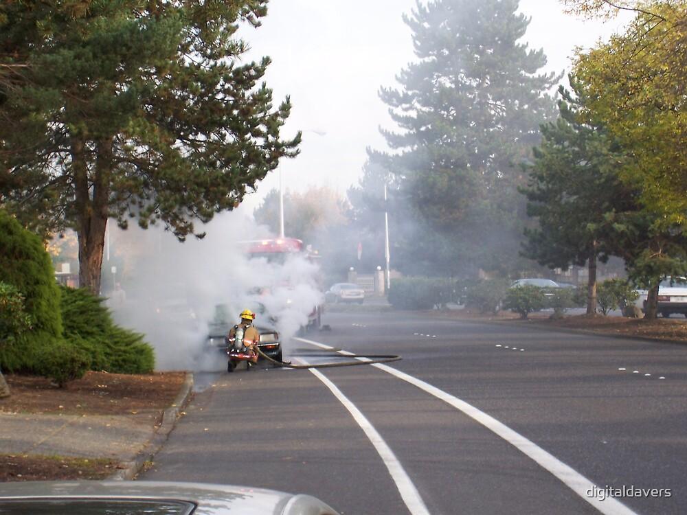 Car Fire by digitaldavers