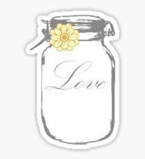 Love Jar Wedding Sticker