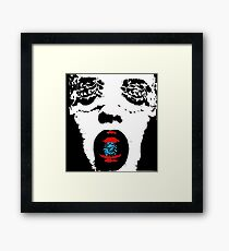 ROCK IN YOUR MOUTH Framed Print