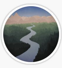 Get Lost With Me - Sky Sticker