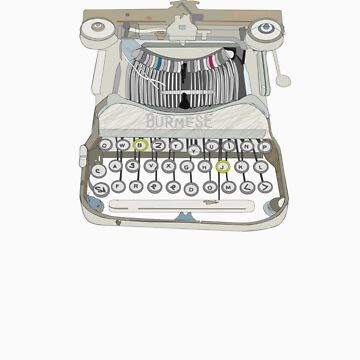 burma typewriter by benemac
