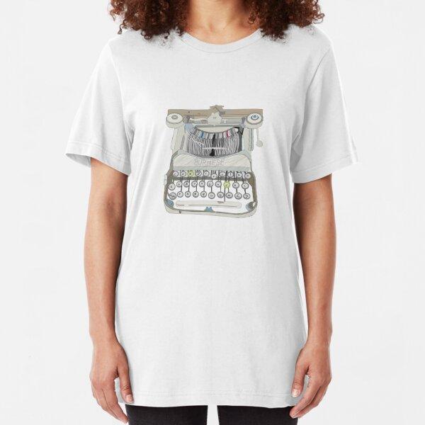burma Schreibmaschine Slim Fit T-Shirt