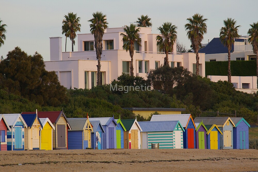 Beach Sheds and Mansion by Magnetic