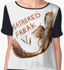 Feathered Freak Chiffon Top