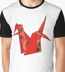 Paper Crane Origami Beautiful Artistic Graphic Tee Graphic T-Shirt