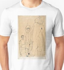 Egon Schiele - Schiele With Nude Model Before The Mirror, 1910 T-Shirt