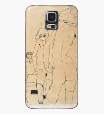 Egon Schiele - Schiele With Nude Model Before The Mirror, 1910 Case/Skin for Samsung Galaxy