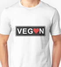 Vegan Love Unisex T-Shirt