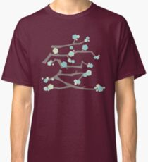 Chinese 'Ai' (Love) Aqua Blue Sakura Cherry Blossoms With Brown Branches | Japanese Sakura Kanji Classic T-Shirt
