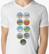 Star Wars Planets Men's V-Neck T-Shirt