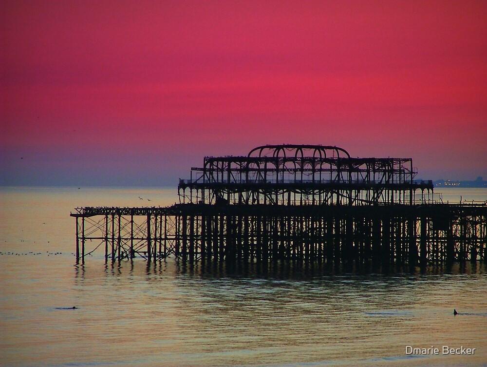 Sunset over Brighton Pier by Dmarie Becker