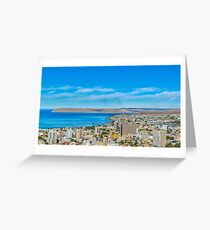 Aerial Urban View of Comodoro Rivadavia City, Argentina Greeting Card