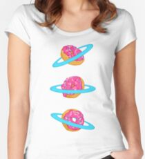 Sugar rings of Saturn Women's Fitted Scoop T-Shirt