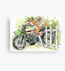 MOTO THEIF! Canvas Print