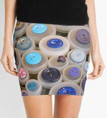 Blue buttons Mini Skirt