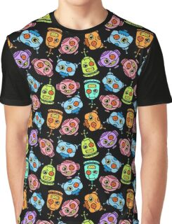 angry robot heads Graphic T-Shirt