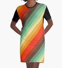 Water colour Rainbow Graphic T-Shirt Dress