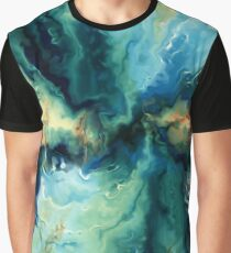 Abstract Blue Oil Painting Fractal Graphic T-Shirt