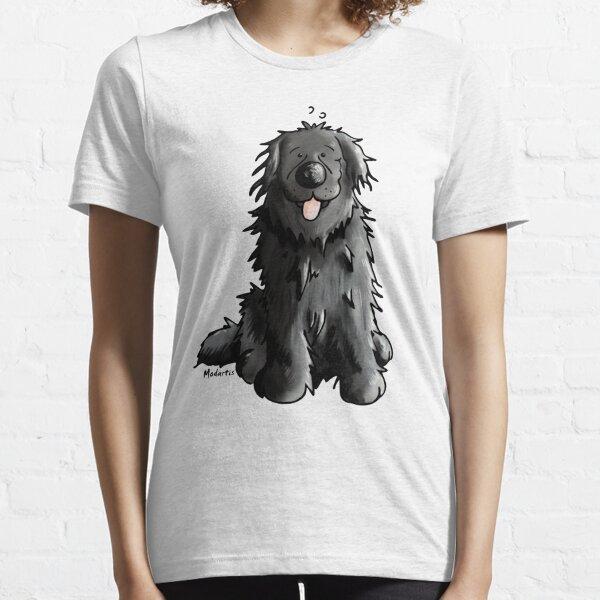 Black Newfoundland Dog Cartoon Essential T-Shirt