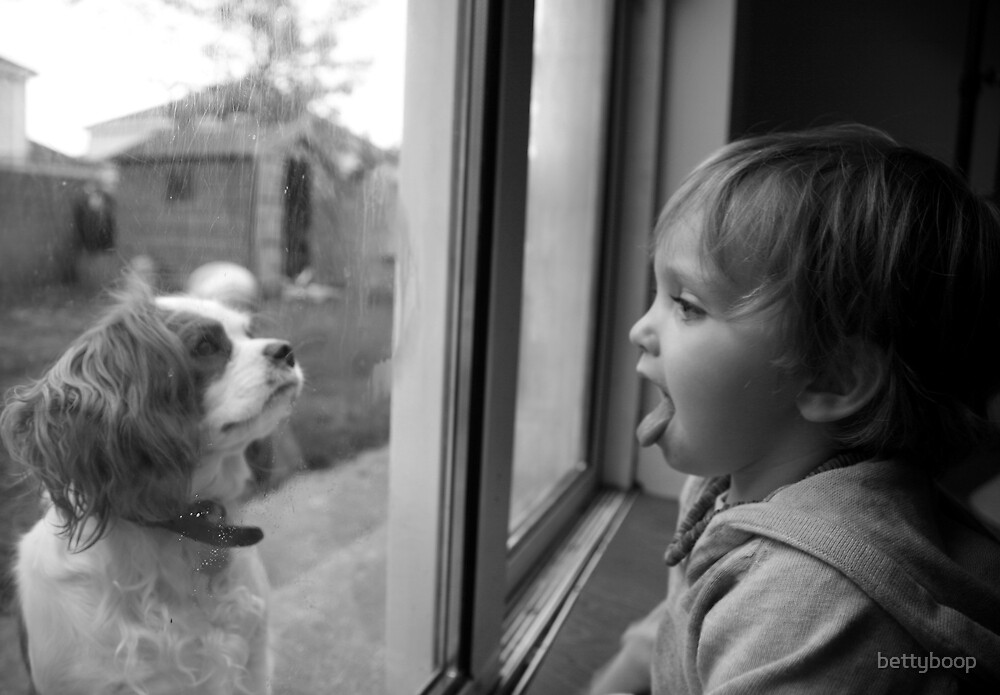 A boy and his dog by bettyboop