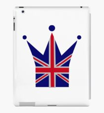 Crown United Kingdom flag iPad Case/Skin
