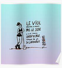 Le viol et le jardinage. Bleu Poster