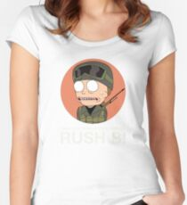 Rick and Morty in CSGO! Women's Fitted Scoop T-Shirt
