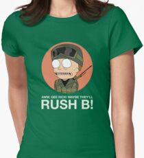 Rick and Morty in CSGO! Womens Fitted T-Shirt