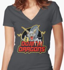 Dojima Dragons Women's Fitted V-Neck T-Shirt