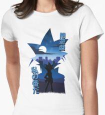 Yami Yugi Silhouette Womens Fitted T-Shirt