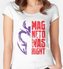 Magneto Was Right! Women's Fitted Scoop T-Shirt