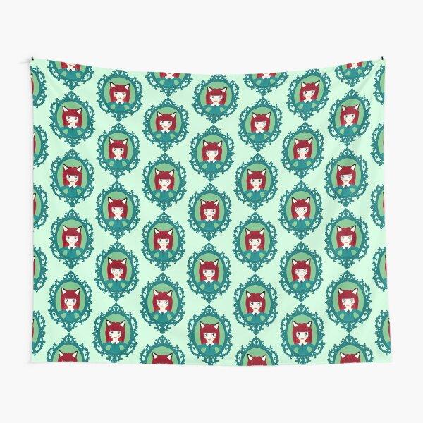 Kawaii Fox Cosplay Girl Tapestry
