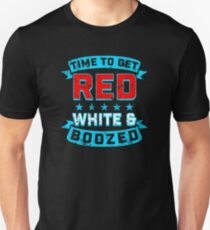Red White And Boozed Unisex T-Shirt