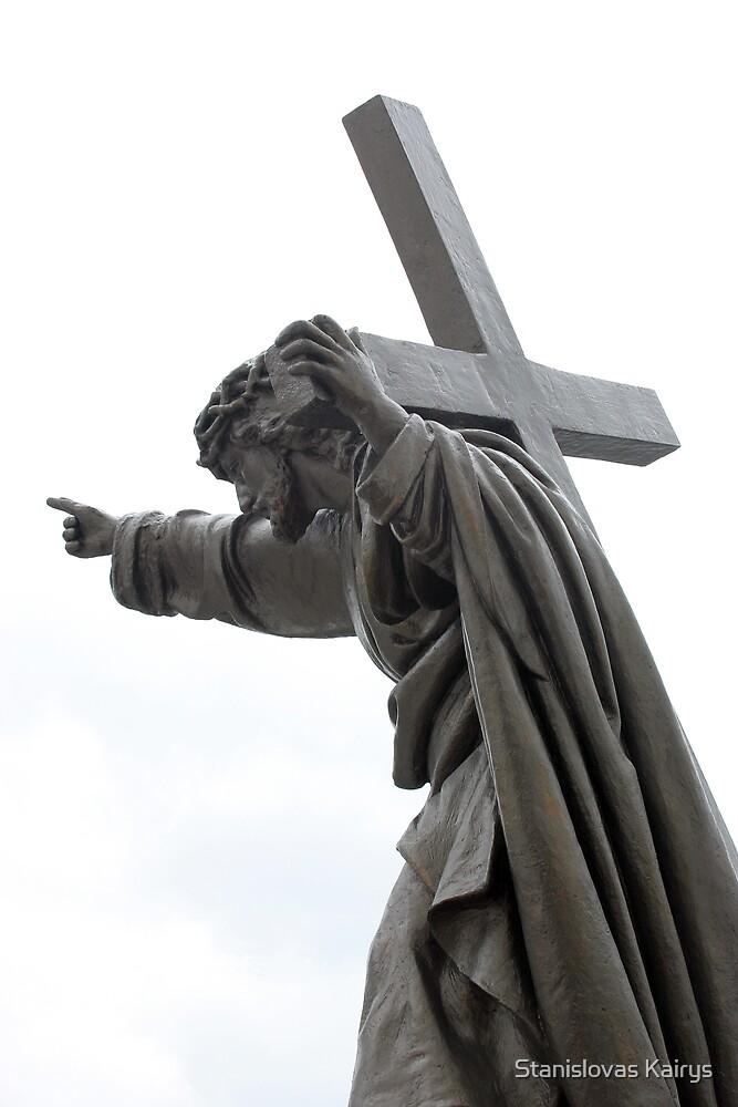 Jesus with Cross by Stanislovas Kairys