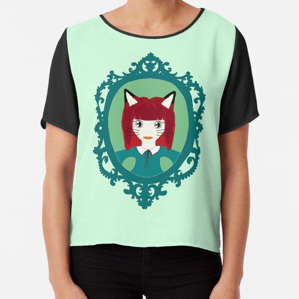 Kawaii Fox Cosplay Girl Chiffon Top