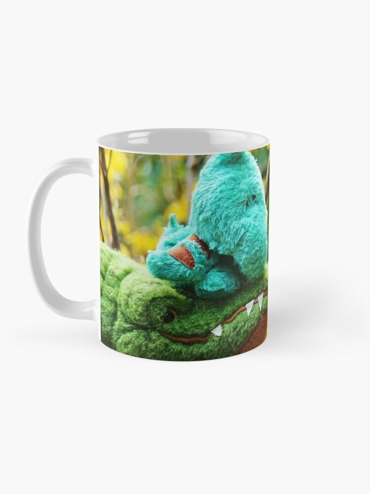 Alternate view of Gator McBumpypants and Herman smell the flowers Mug