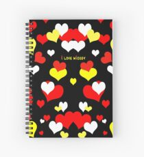 I Love Mickey Spiral Notebook