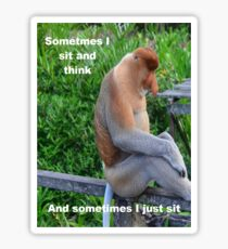 Proboscis Monkey maybe Thinking Sticker